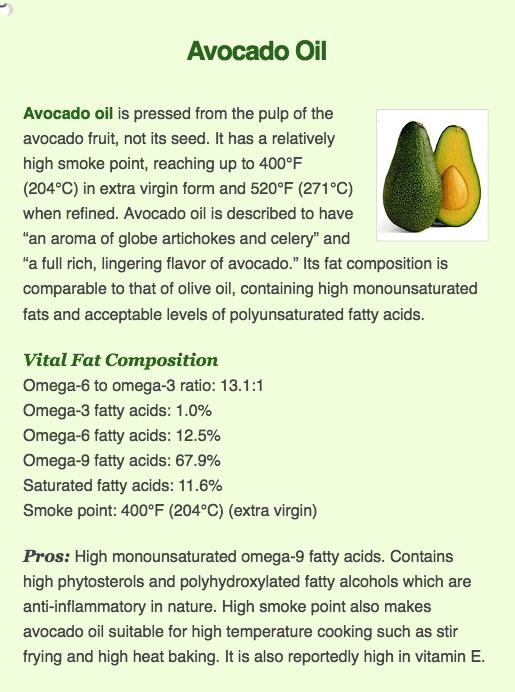 avocado oil and health
